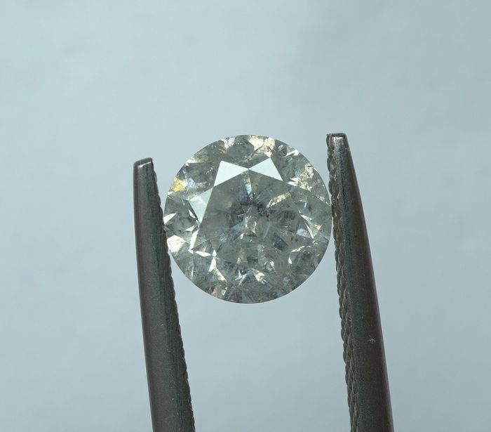 1 pcs Diamant - 1.00 ct - Rund brillant - I - I3  -No reserve