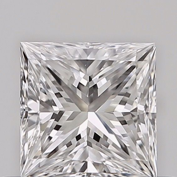 1 pcs Diamond - 0.43 ct - Princess - D (colourless) - VVS2, ***low reserve***