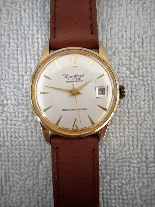Euro Watch - 21 St. Ave - Antimagnetic - Hombre - 1970-1979