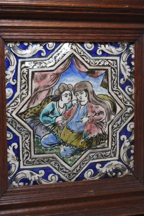 Tile - Ceramic - Persian - Qajar dynasty (1796–1925)