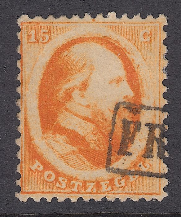 Pays-Bas 1864 - King Willem III with plate error - Mast 6 PM1