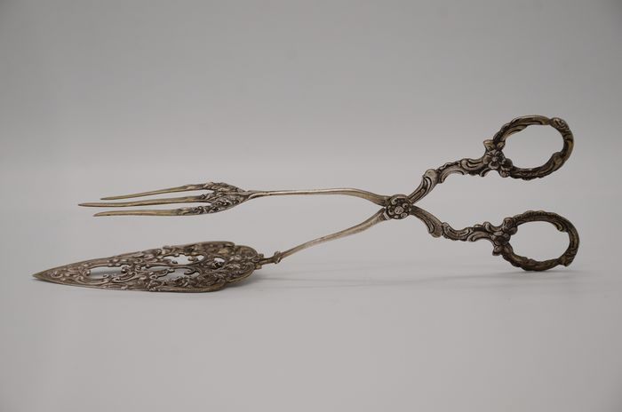 Meat tongs - .800 silver - Germany - Early 20th century