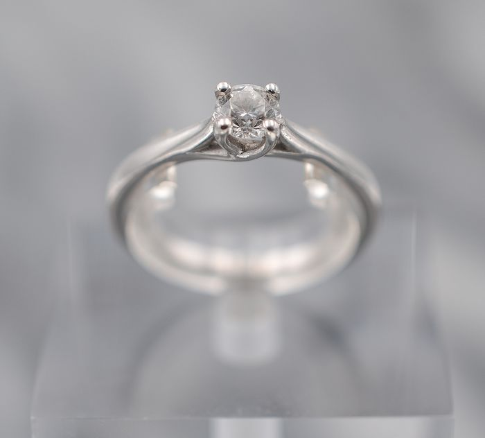 18 carats Or blanc - Bague - 0.35 ct Diamant
