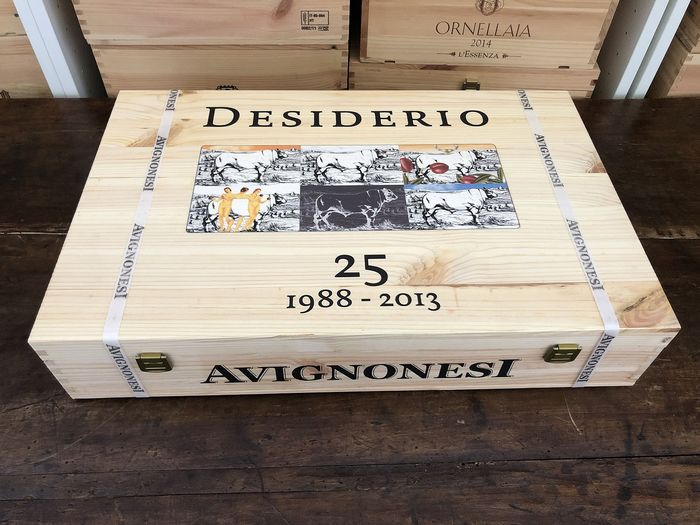 "2013 Avignonesi Desiderio ""Limited Edition: 25 Years"" Author's labels - Super Tuscans - 6 Flessen (0.75 liter)"