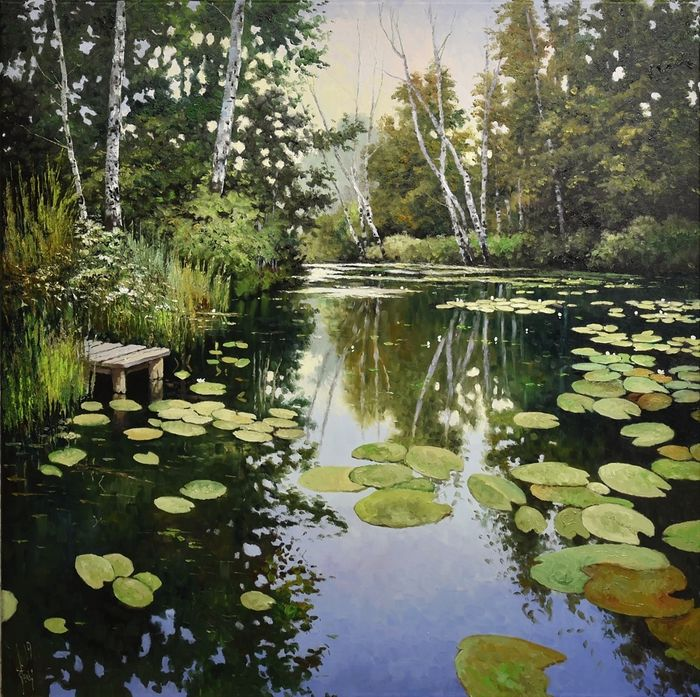 Jack Lacky - Bay of water lilies