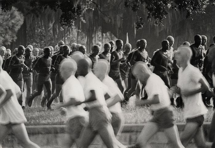 Eddie Adams (1933-2004)/AP Newsfeatures - Marine Recruits Jogging, Parris Island, 1971
