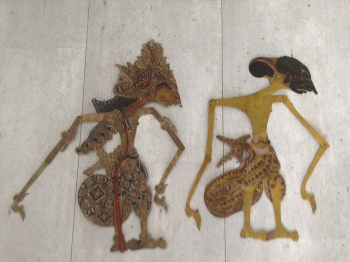 Wayang kulit (2) - Leather - Java, Indonesia