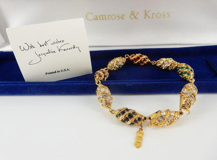 Camrose & Kross - JBK - Jacqueline Kennedy Collection - 22 quilates Bañado en oro - Brazalete