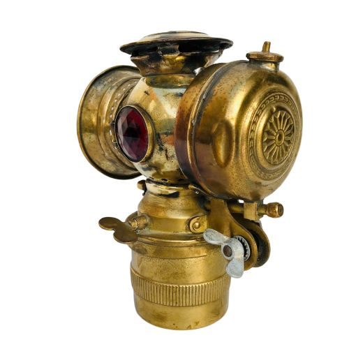 Lampe de vélo Antique Petroleum Carbit - Laiton