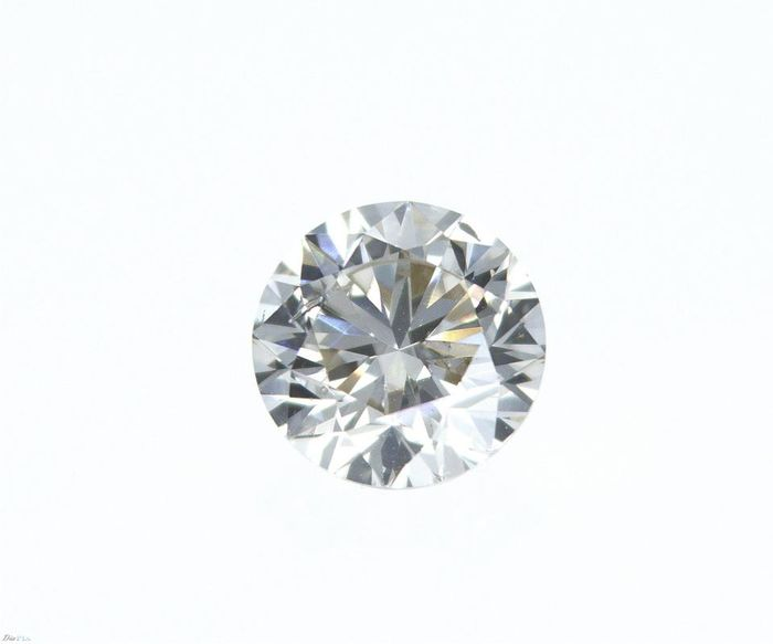 1 pcs Diamond - 0.75 ct - Round - Q-R [GIA certificate] - very light brown - I1