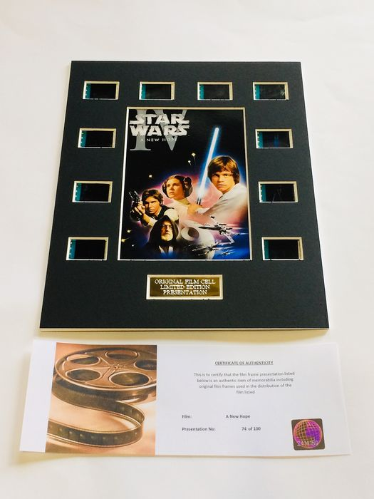 "Star Wars Episode IV ""A New Hope "" - Limited Edition Film Used Cell Display"