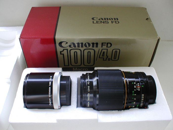 Canon Macro Lens FD 100mm F/4 met Canon Extension Tube FD 50
