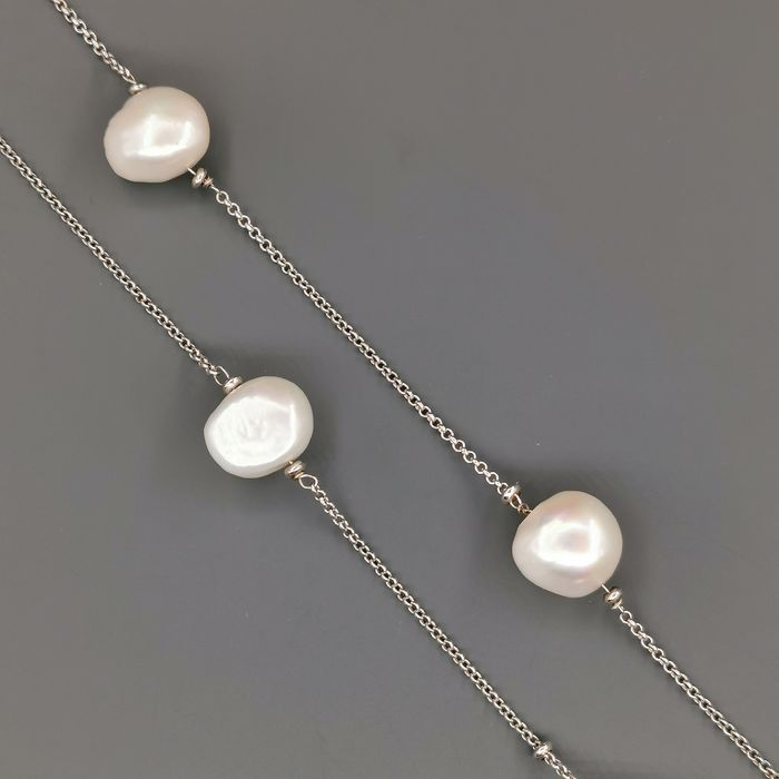 18 kt. White gold - Necklace Mixed