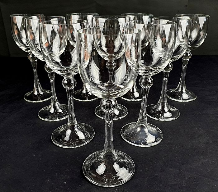 Murano Crystal - Wine glasses (10) - Crystal