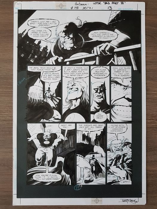Kitson, Barry  - Originele pagina (p.13) Legends of the dark Knight - Batman