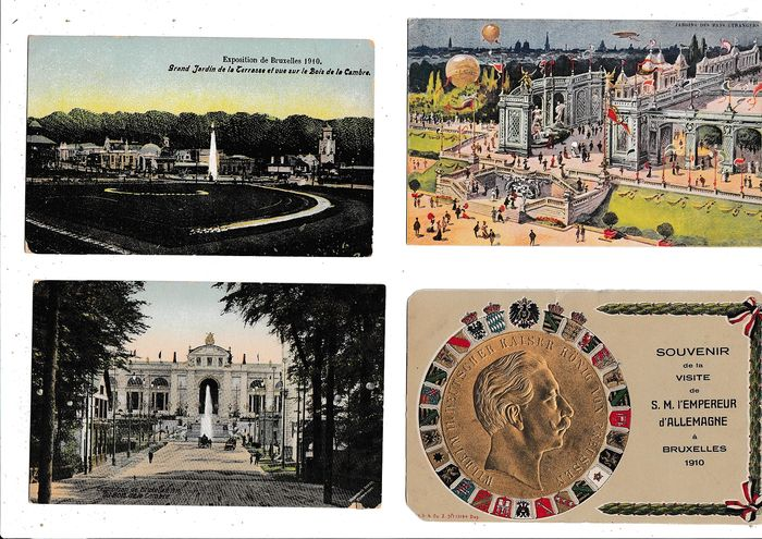 Belgium - Miscellaneous - World Exhibition BRUSSELS 1910 - Postcards (Collection of 252) - 1910