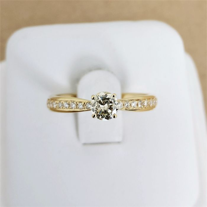 18 quilates Oro amarillo - Anillo - 0.31 ct Diamante - Diamantes