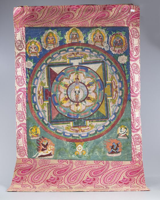 Thangka (1) - Canvas - Tibet - Second half 20th century