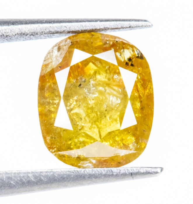 Diamond - 0.72 ct - Natural Fancy INTENSE Brownish Yellow - I3  *NO RESERVE*