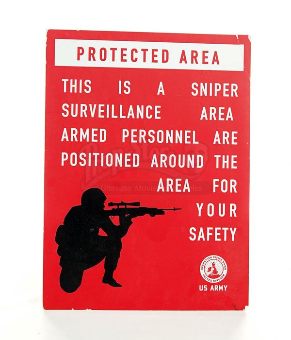 28 Weeks Later - Protected Area Sign