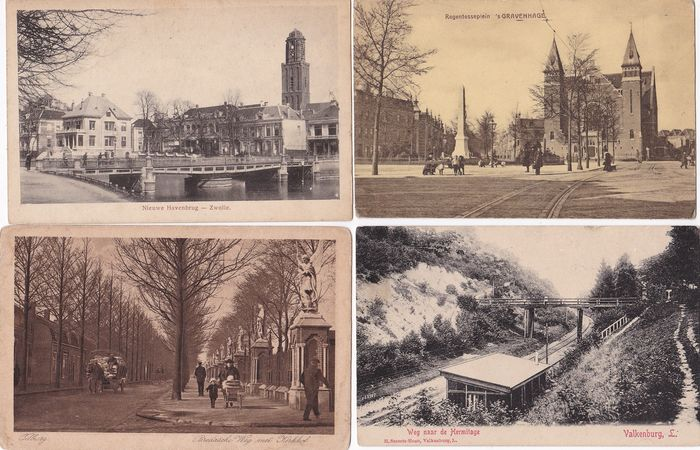 Netherlands - City & Landscape - Postcards (Collection of 134) - 1900