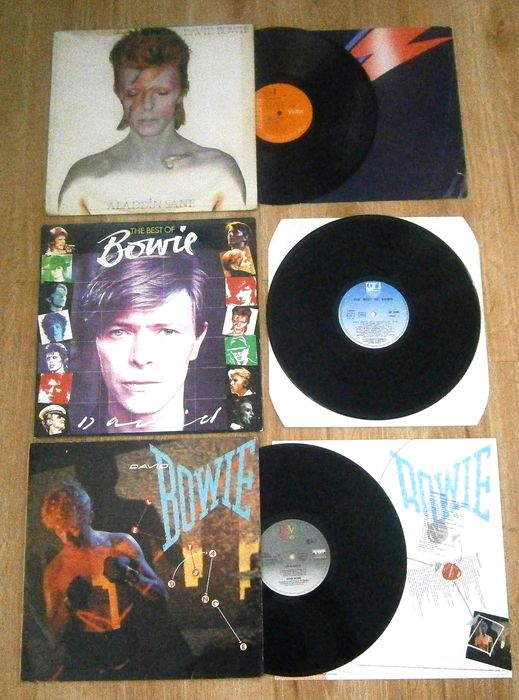 David Bowie - Three (3) Icons of Bowie (one 2LP)  Aladdin Sane - Multiple titles - LP's - 1973/1983