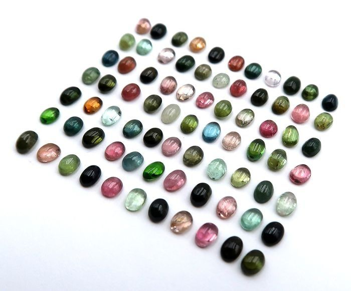 77 pcs Mixed colors Tourmaline - 11.50 ct