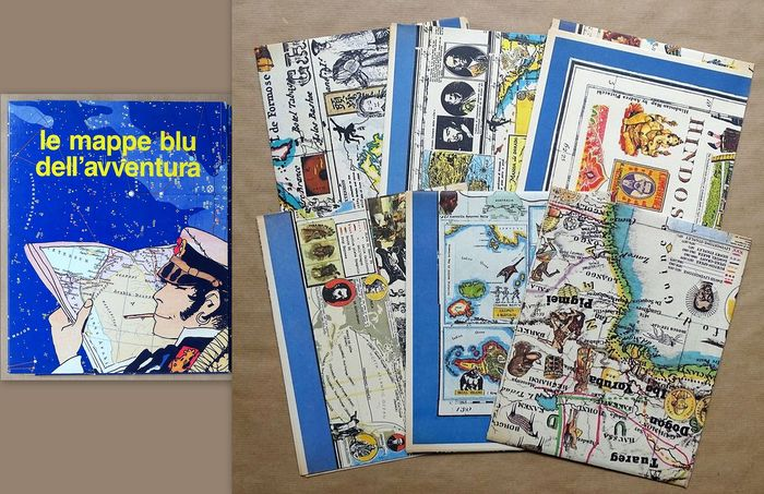 Corto Maltese - Le mappe blu dell'avventura - 6 cartes + coffret - First edition (1986)