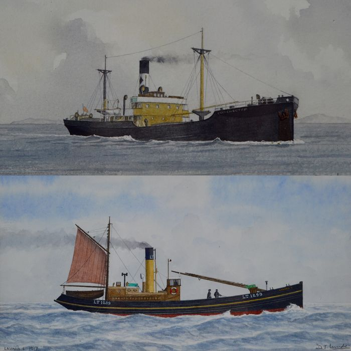 Donald J Mudie (20th century) - Vessel Lavinia L of 1917 and SS Colchester