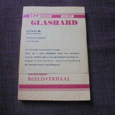 Dick Bos - Glashard (met wikkel) - Reclame uitgaven Vegecon - Softcover - First edition (1969)
