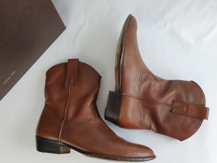 Gucci - leather - cowboy - boots - Size
