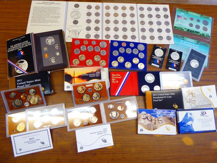United States - proof en uncirculated coin sets