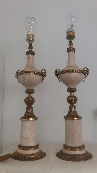 Spectacular Couple of Lamps - Empire Style