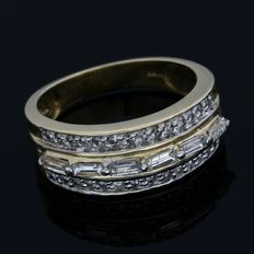 14 carats Or jaune - Bague - 0.50 ct Diamant