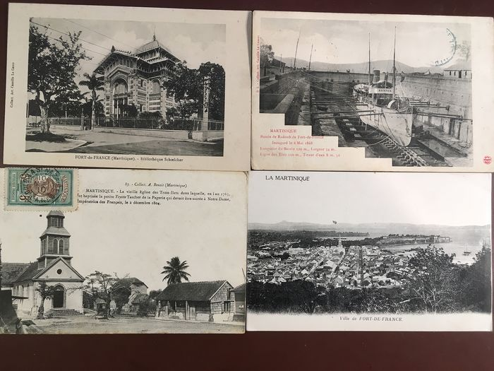France - Middle America and Caribbean - Postcards (Set of 80) - 1900-1940