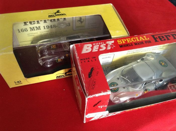 Art Models - Best - made in italy - 1:43 - Special 50th Anniversary Ferrari 166MM & Promo Ferrari 250LM Special 30th  - Promo Ferrari 860 Monza Sport M.M. 1992 Ferrari 275P2 Sport 1. Targa Florio 65