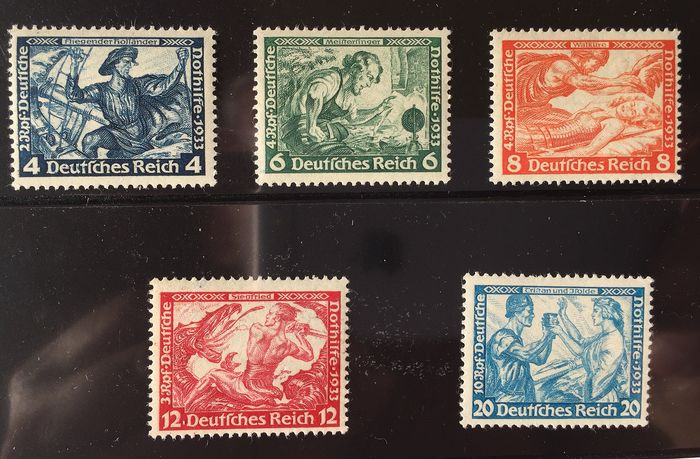 German Empire 1933 - Wagner type B - Michel 500B-505B