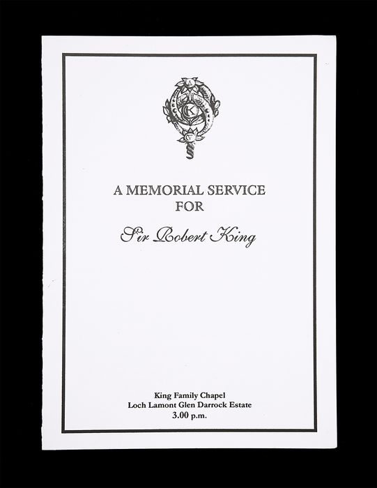 James Bond 007 - The World Is Not Enough (1999)  - Robert King Funeral Card 20860