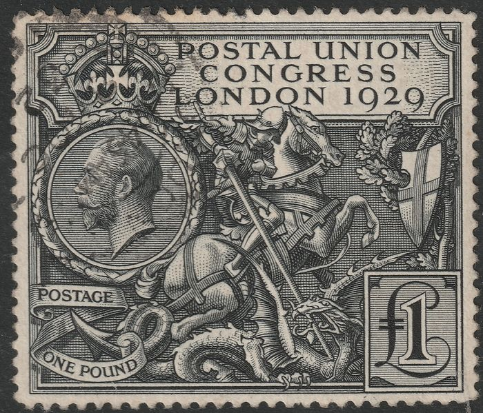 Groot-Brittannië 1929 - Postal Union Congress 1 £ - Stanley Gibbons n.438