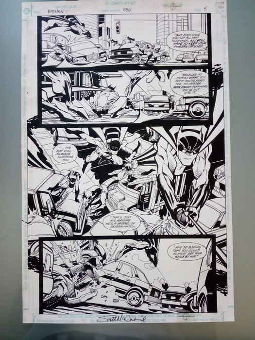 Batman #586 - Original half splash Page Art  - Erstausgabe - (2001)