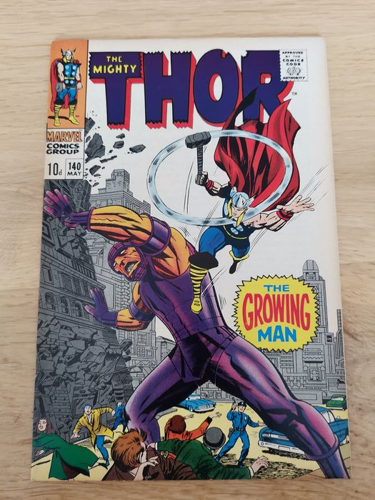 The mighty Thor  140 - Very high grade! 9.2! Key issue 1st appearance of the growing man - Softcover - Erstausgabe - (1967)