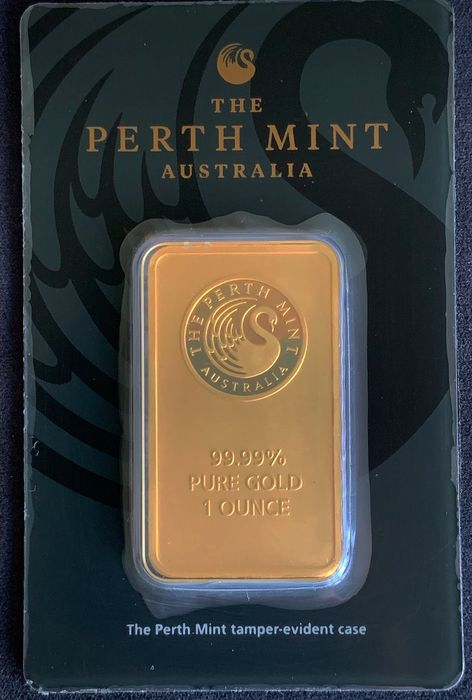 1 troy ounce (31.1 g) - Gold .999 (24 kt.) - Perth Mint - Seal+Certificate