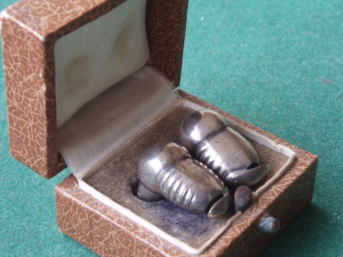 Vibraphone patent antique hearing aid set (1) - Silver