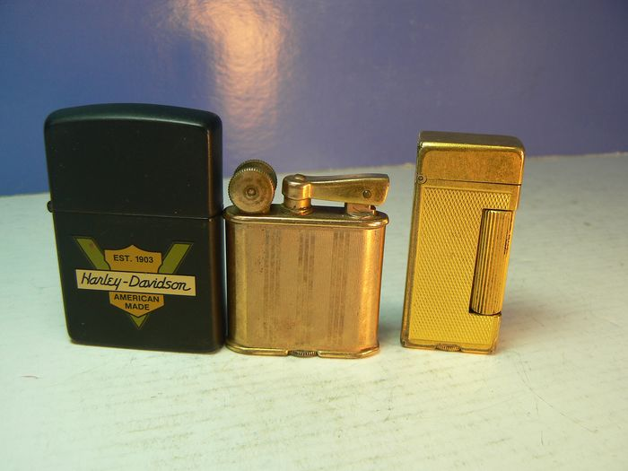 Dunhill, Flamidor & Zippo - Set of three petrol lighters - Collection