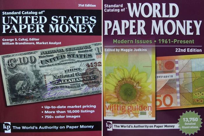 Accessoires  - 2 Catalogues : World Paper Money, Modern Issues + United States Paper Money
