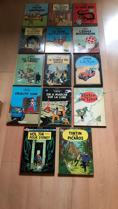 Tintin - 14x C - (années 60-70) - Different editions
