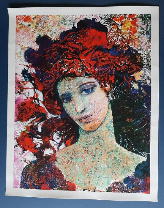 Ernst Fuchs - Girl with red cap