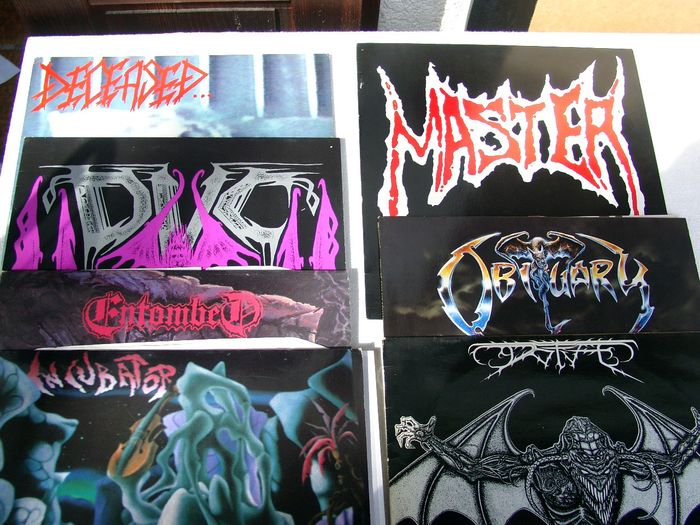 Various Artists/Bands in Death Metal - Multiple artists - Multiple titles - LP's - 1990/1992