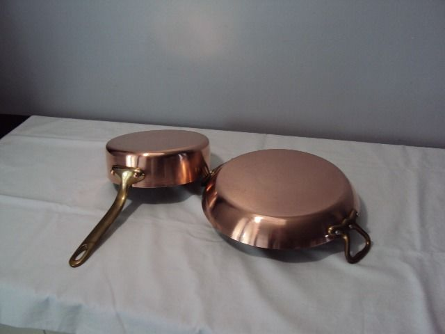 Beautiful dish for the oven and a frying pan - Bronze, Copper