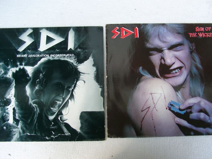 SDI - Sign Of The Wicked / Satans Defloration Incorporated  - Diverse Titel - LP's - 1986/1988